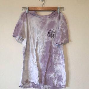 Purple Tie-Dye Obey T-shirt (Rose)